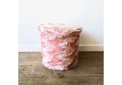 1970's Faux Fur Pink Pouf