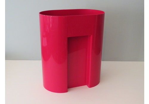 Bright Red Plastic Waste Paper Bin By Andries And Hiroko Van Onck For Magis Italy
