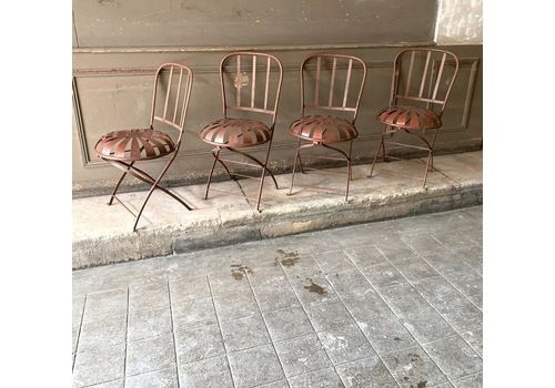 Early French Garden Chairs By Francois Carre