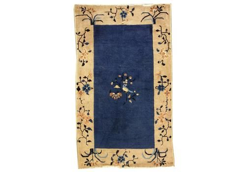 Antique Chinese Handmade Peking Rug, 1900s