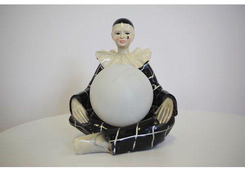 Lampada Pierrot Sferica, Anni '50, Ceramica