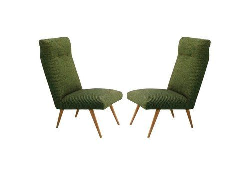 Pair Of Midcentury Chairs Guariche Style French Upholstered