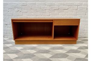 Thumb teak sideboard record cabinet by g plan 0