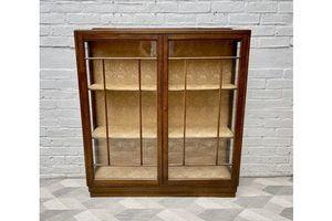 Thumb art deco glass display cabinet 1950s 0