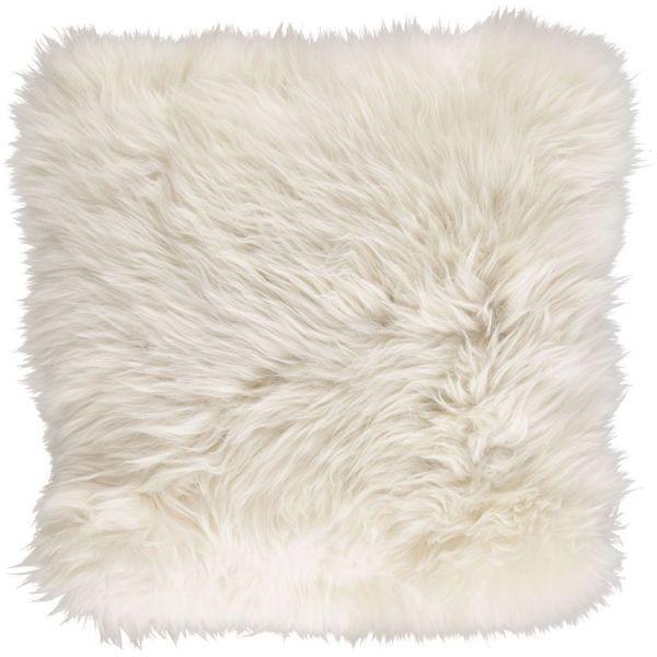 New Zealand Sheepskin Cushion   Linen