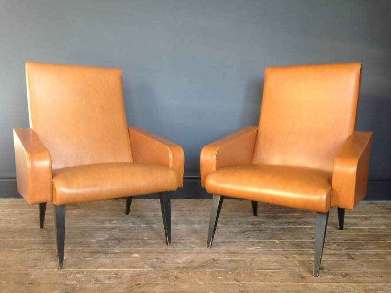 Pair Of 1960s French Armchairs