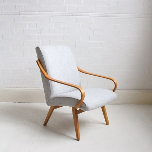 Midcentury Grey Lounge Chair photo 1