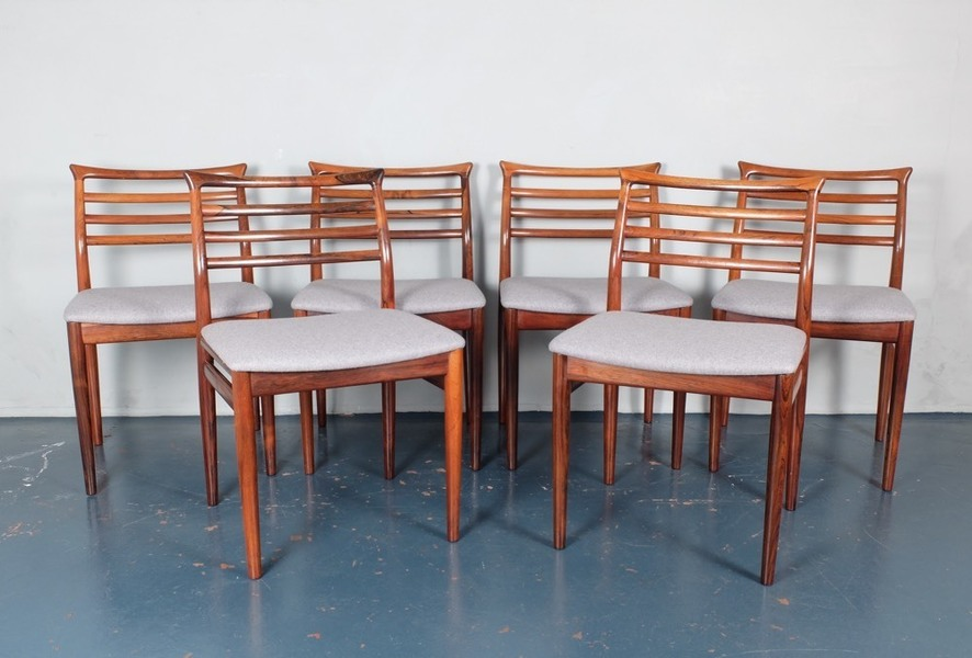 Set Of Six Erling Torvits Rosewood Dining Chairs