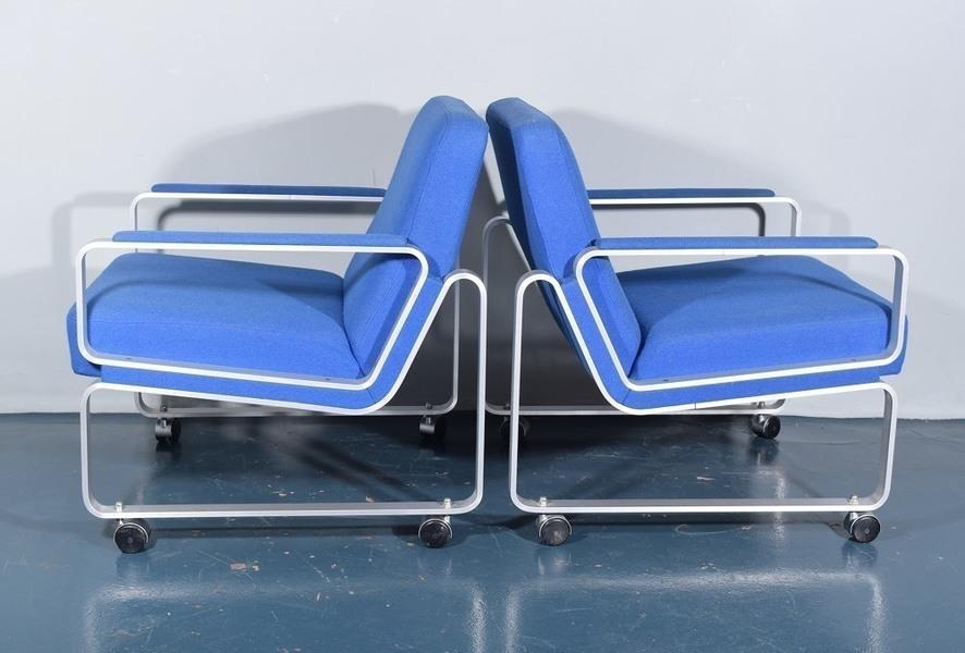 P Schultz And Co. Aluminium Armchairs