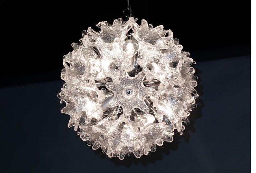 Murano Glass Flower Chandelier