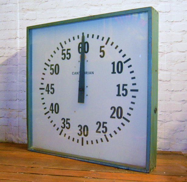 Large Industrial Swimming Pool Clock Wall Vintage Decor Mancave Retro Pub Antique Kitchen Factory