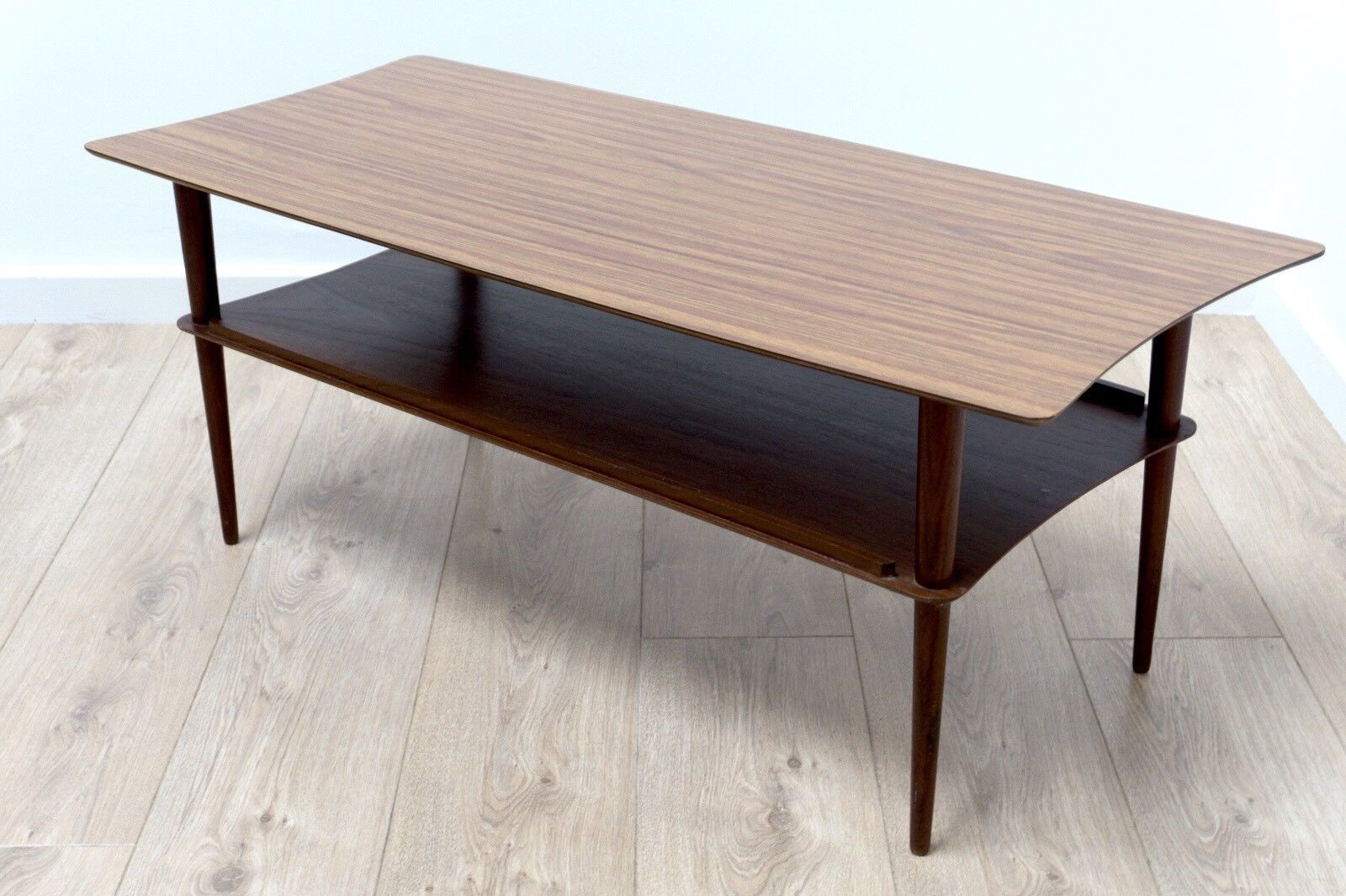 Mid Century Vintage Retro Teak Coffee Table With Magazine ...