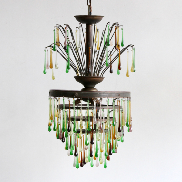Waterfall Chandelier With Upper Walking Sticks