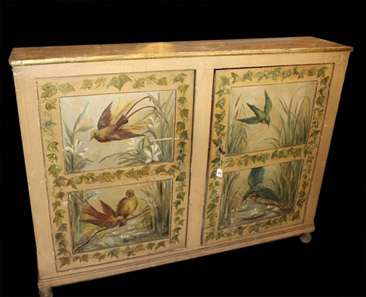 Decorative French Hand Painted Buffet photo 1
