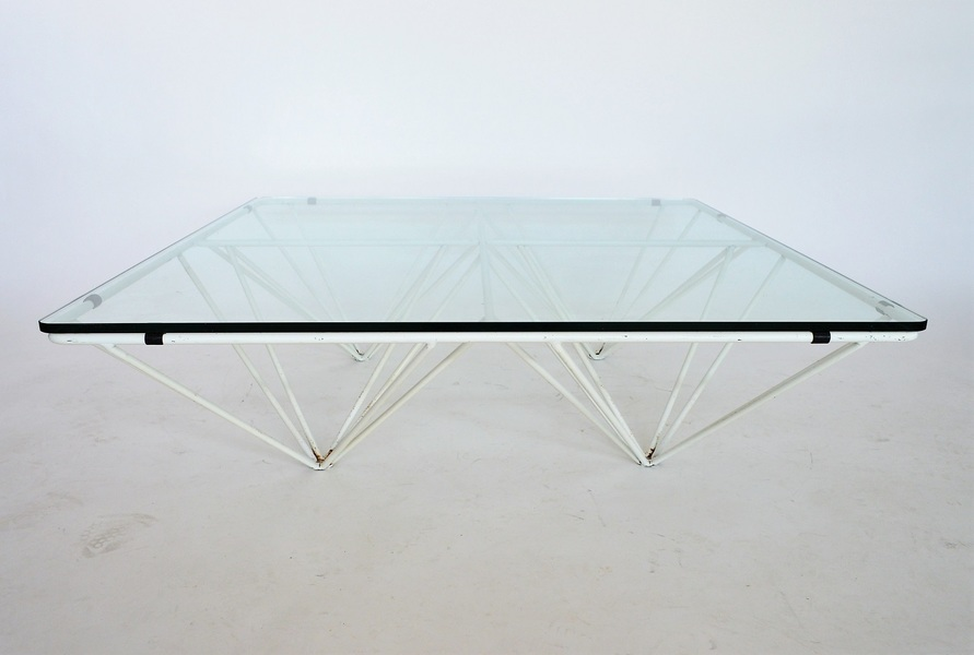 Italian Glass Coffee Table.Italian Metal And Glass Coffee Table