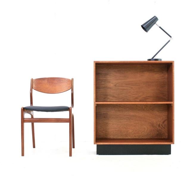 Vintage 1970s Danish Influence Small Teak Bookcase