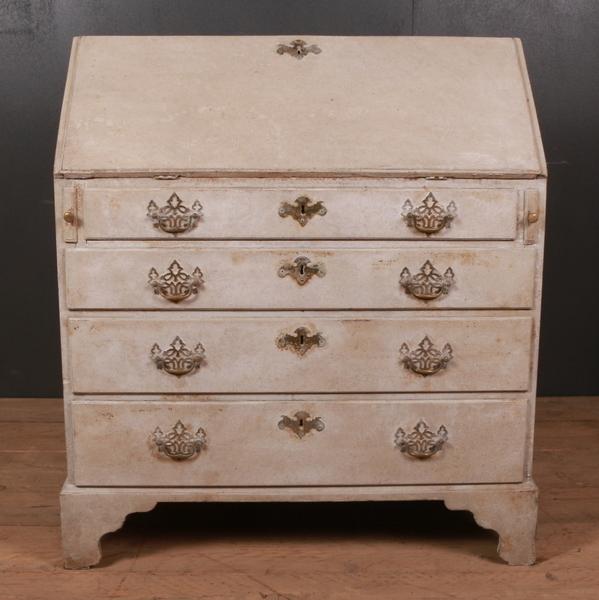 Good 18th C English Painted Bureau 1780
