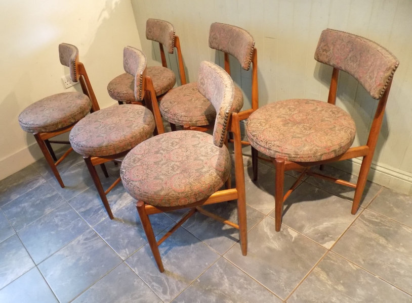 Ib Kofod Larsen For G Plan Teak Dining Chairs | Set Of Six | 1960's Mid Century