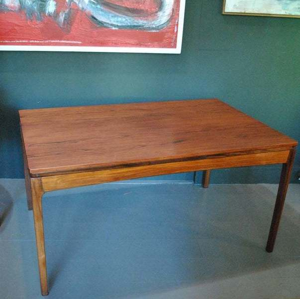 Danish Rosewood Midcentury Dining Table, Double Extending