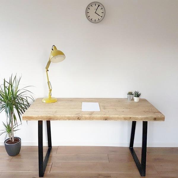 Reclaimed Wood Industrial Desk