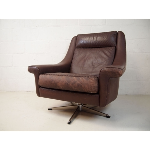 Aage Christiansen For Eran Mobler Leather Chair