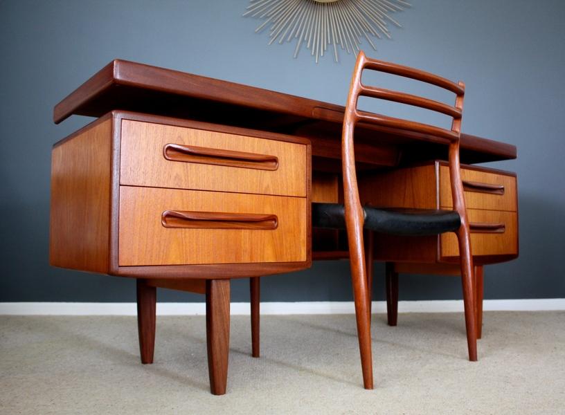 Stunning G Plan Fresco Mid Century Teak Desk Retro Vintage 50s 60s 70s