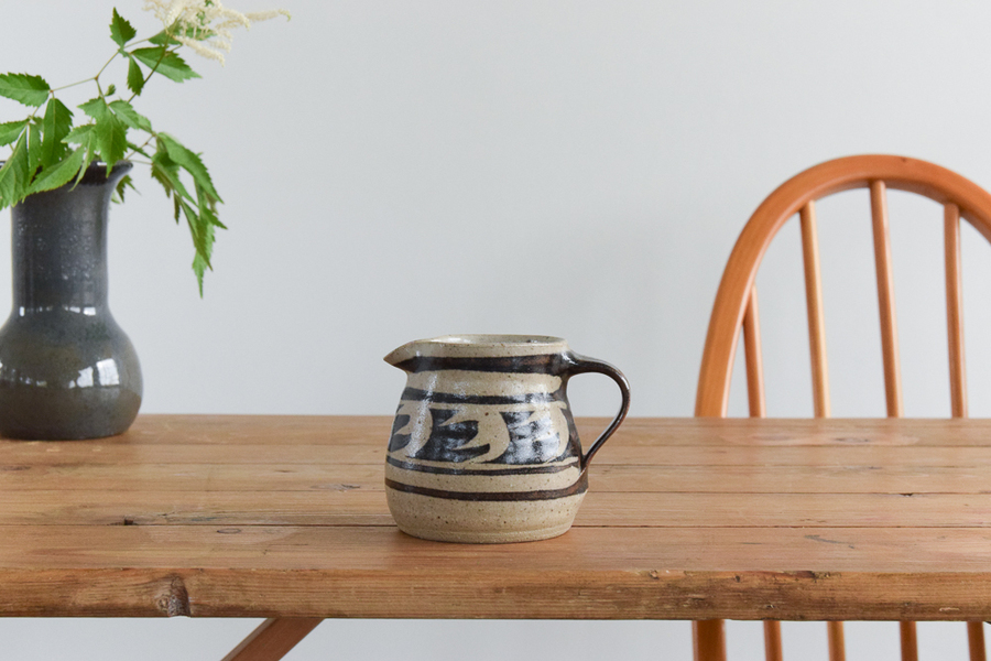 Vintage Small Studio Pottery Patterned Ceramic Jug