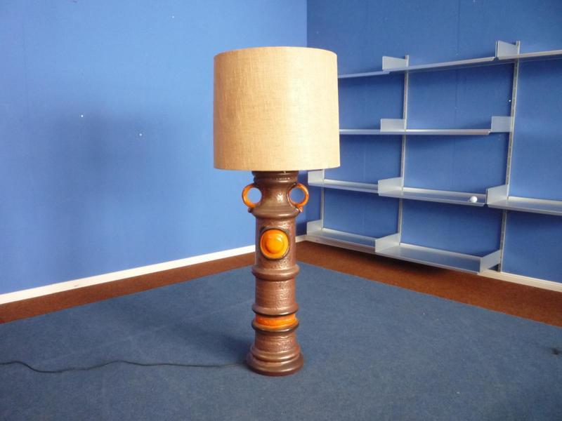 Large Ceramic Floor Lamp, 1960s