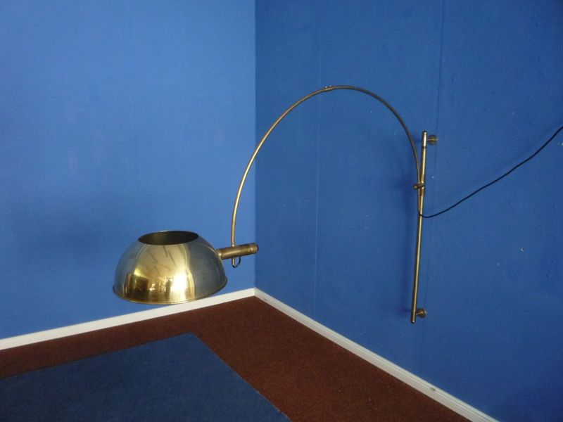 Brass Wall Lamp By Florian Schulz, 1960s