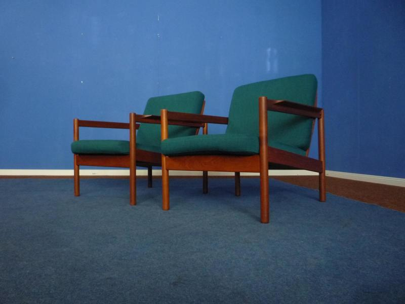 Teak Chairs By Borge Jensen For Magnus Olesen, 1960s, Set Of 2