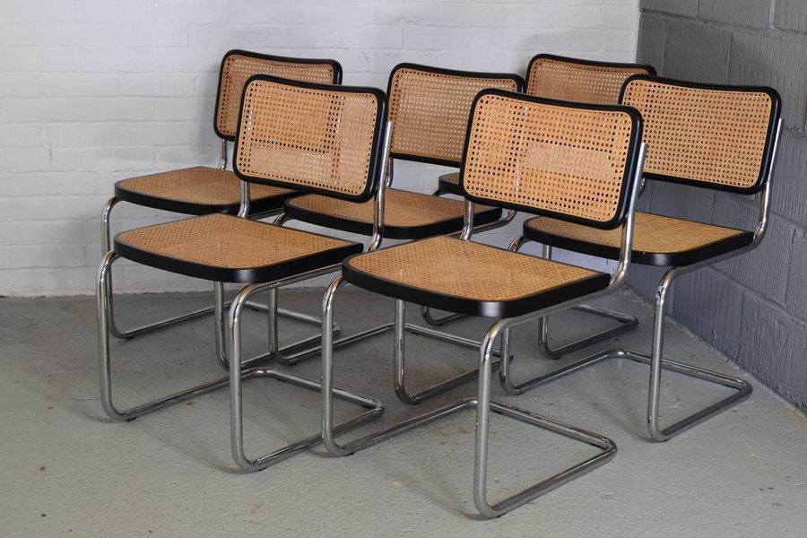Marcel Breuer Mart Stam Cantilevered Bauhaus Chairs Mid Century X 6