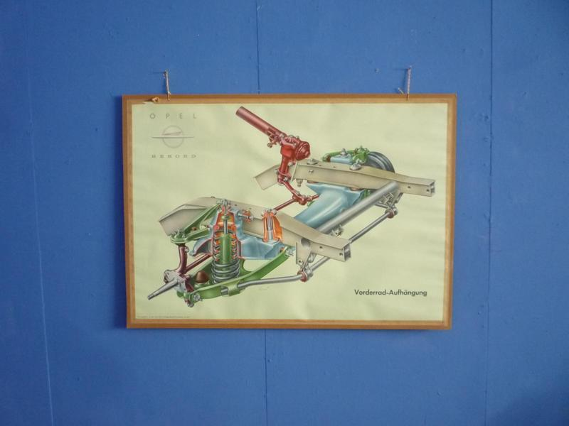 Front Suspension Driving School Teaching Board By Opel, 1950s