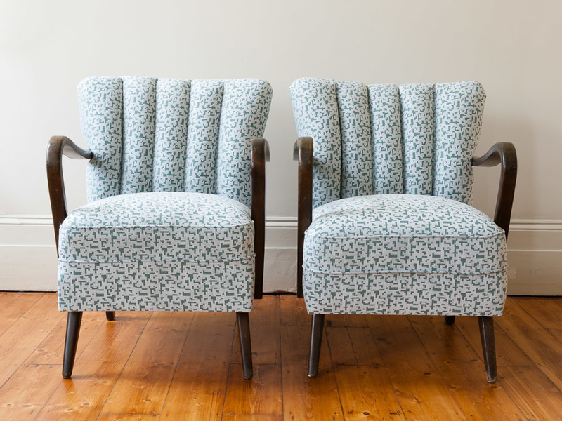 Pair Of Art Deco Cocktail Armchairs