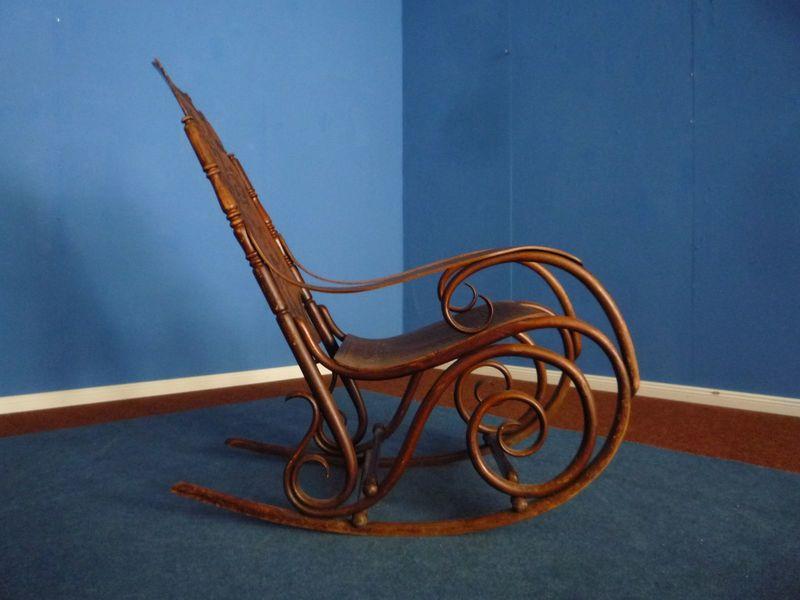 Bentwood Rocking Chair By Jacob & Josef Kohn, 1880s