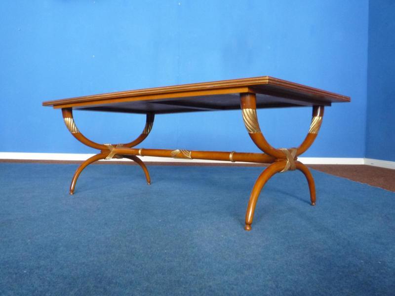 Mid Century Cherry Wood Coffee Table, 1950s