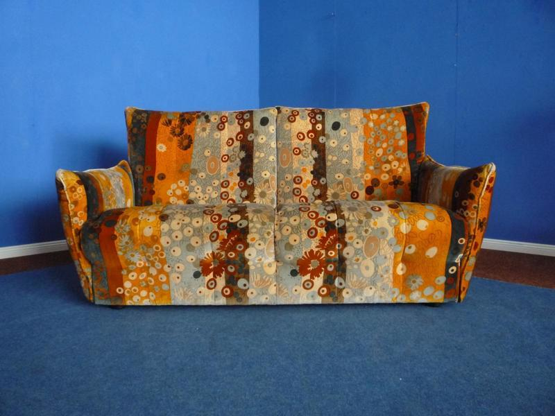 Sofa With Larsen Fabric Cover, 1976