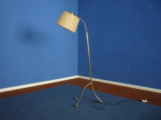 French Tripod Floor Lamp, 1950s