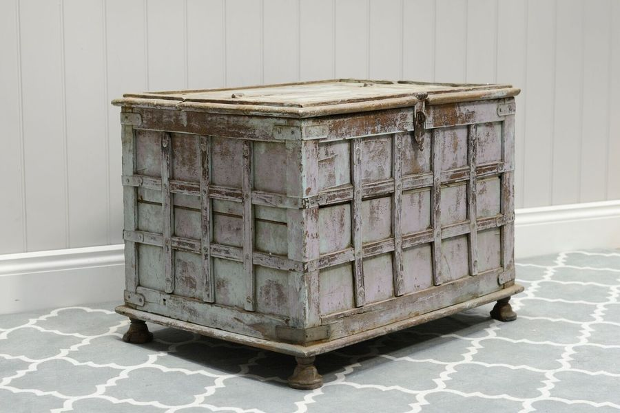 Vintage Indian Dowry Chest 167