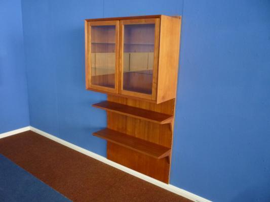 Danish Teak Shelf System With Glass By Poul Cadovius For Cado, 1960s