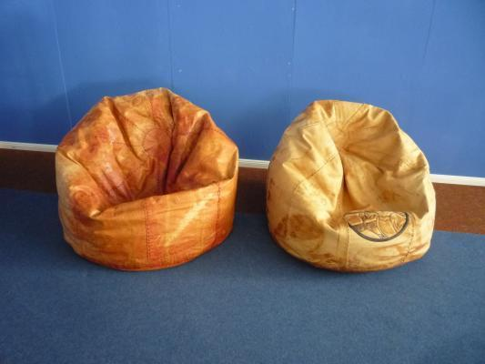 Leather Brazilian Beanbags, 1960s, Set Of 2