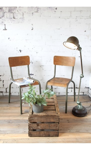 School Chairs With Olive Green Frame