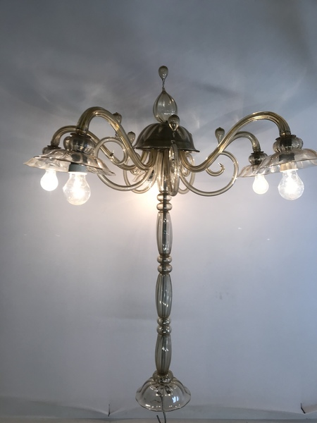 Vintage Murano Glass Chandelier By Paolo Venini