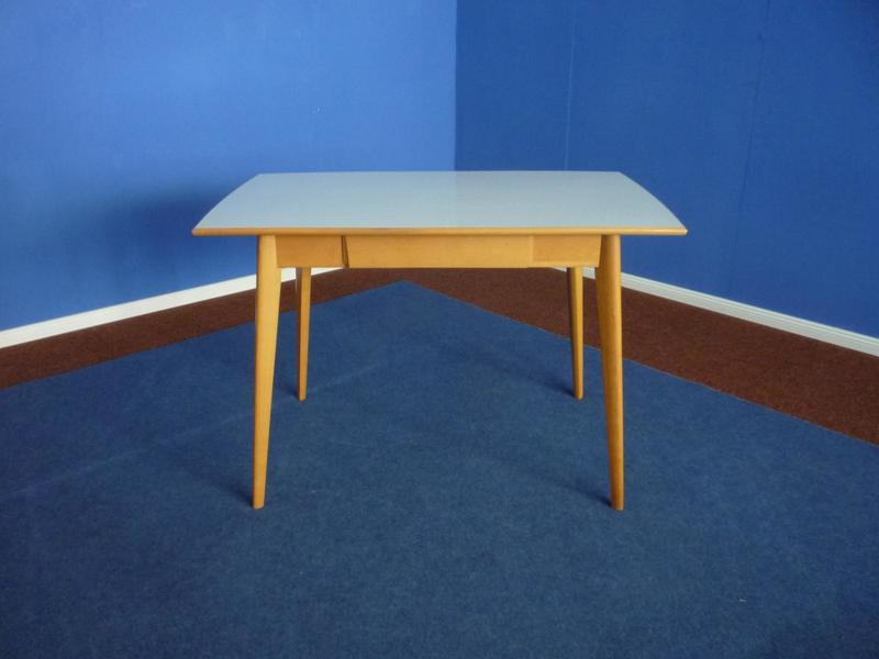 Formica & Beech Kitchen Table, 1950s