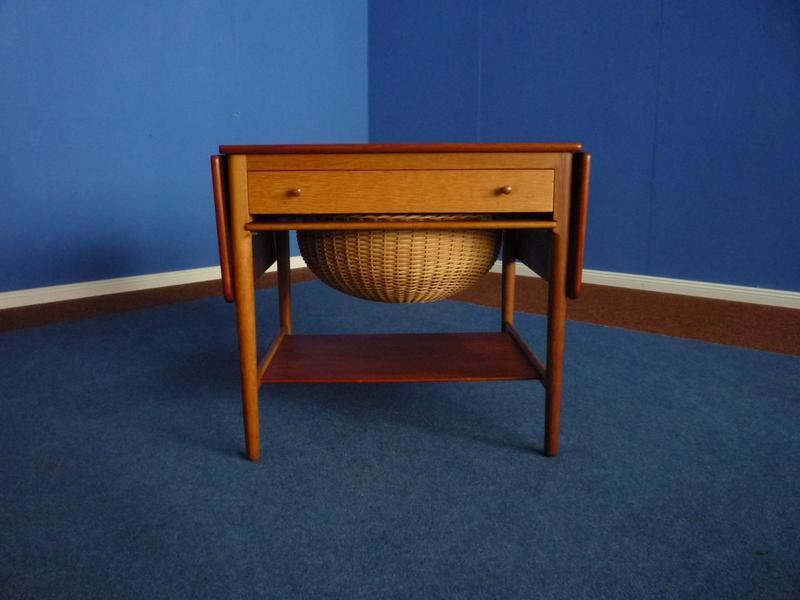 At 33 Teak & Oak Sewing Table By Hans J. Wegner For Andreas Tuck, 1950s