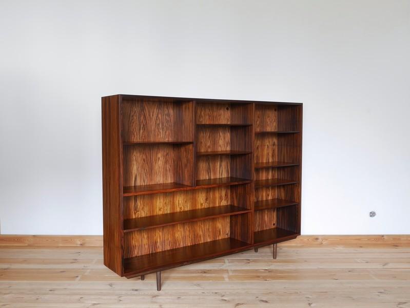 Danish Rosewood Veneer Bookcase By Omann Jun, 1960s