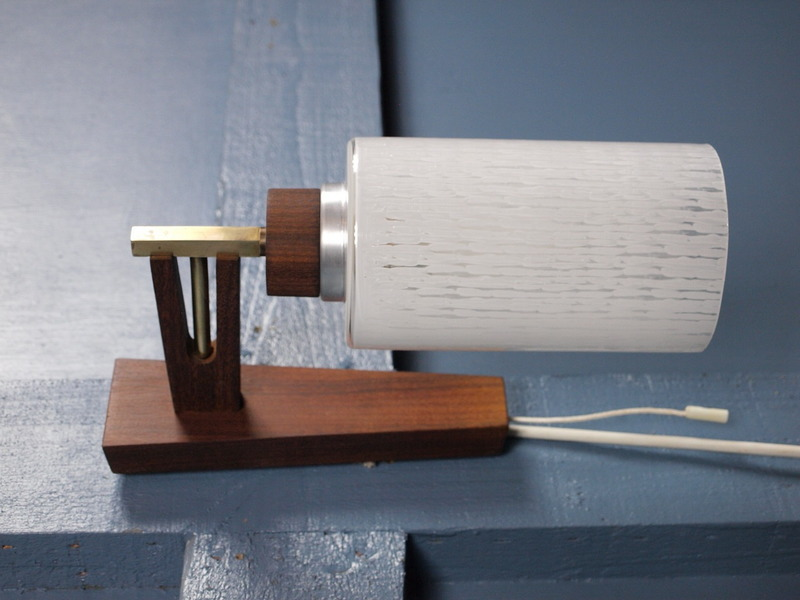 Mid Century Vintage 1960s 70s Teak Wall Light