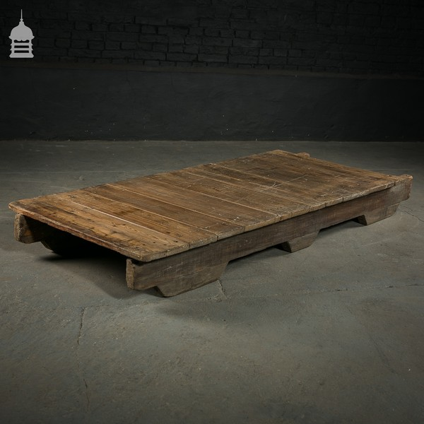 Victorian Pine Base On Skids   Ideal Table Or Counter Top