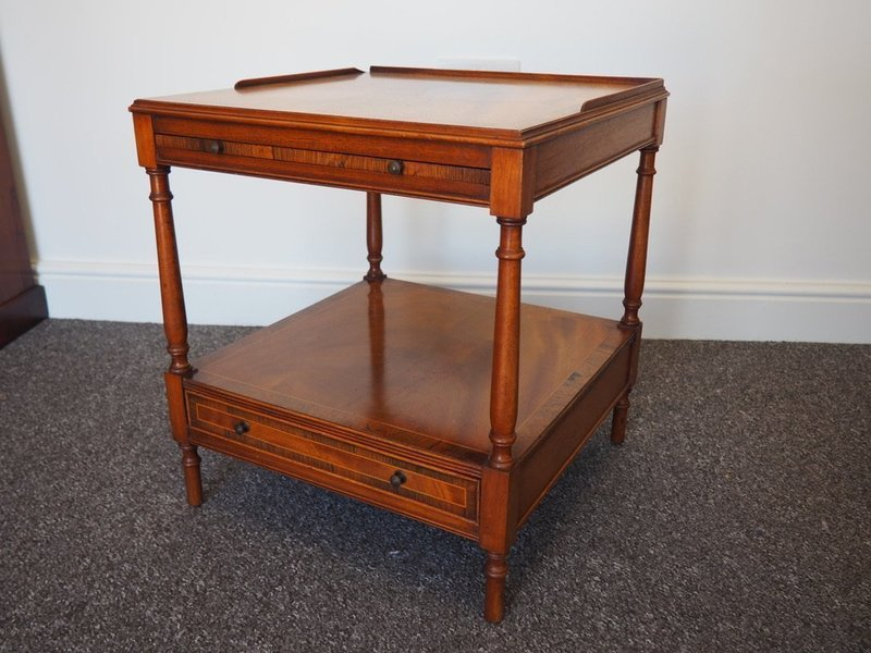 Victorian Crosbanded Rosewood Side Table/Drinks Table