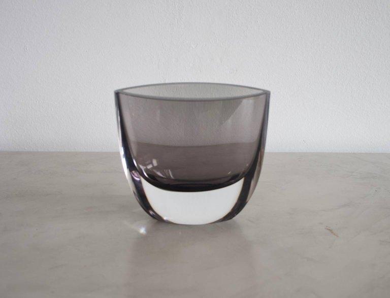 Christian Von Sydow For Kosta Boda Smoke Colored Glass Vase