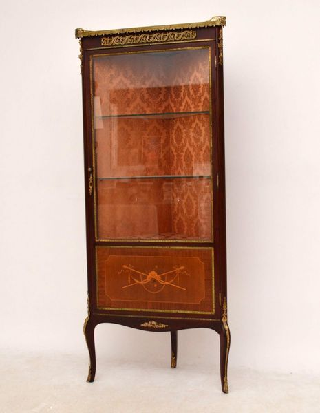 Antique French Ormolu Mounted Corner Cabinet